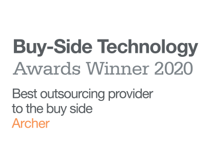 Archer® was named Best Outsourcing Provider to the Buy Side in the 2020 WatersTechnology Buy-Side Technology Awards.